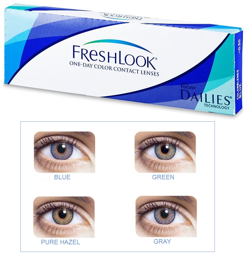 Freshlook one day colors контактные линзы